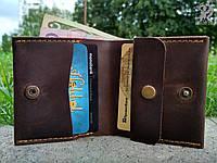 """Шкіряний гаманець """"Woolly"""" унісекс кожаный кошелек унисекс, бумажник ручної роботи, натуральна шкіра, фото 1"""