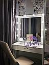 Стол визажиста с подсветкой по периметру зеркала, гримерный столик, фото 3