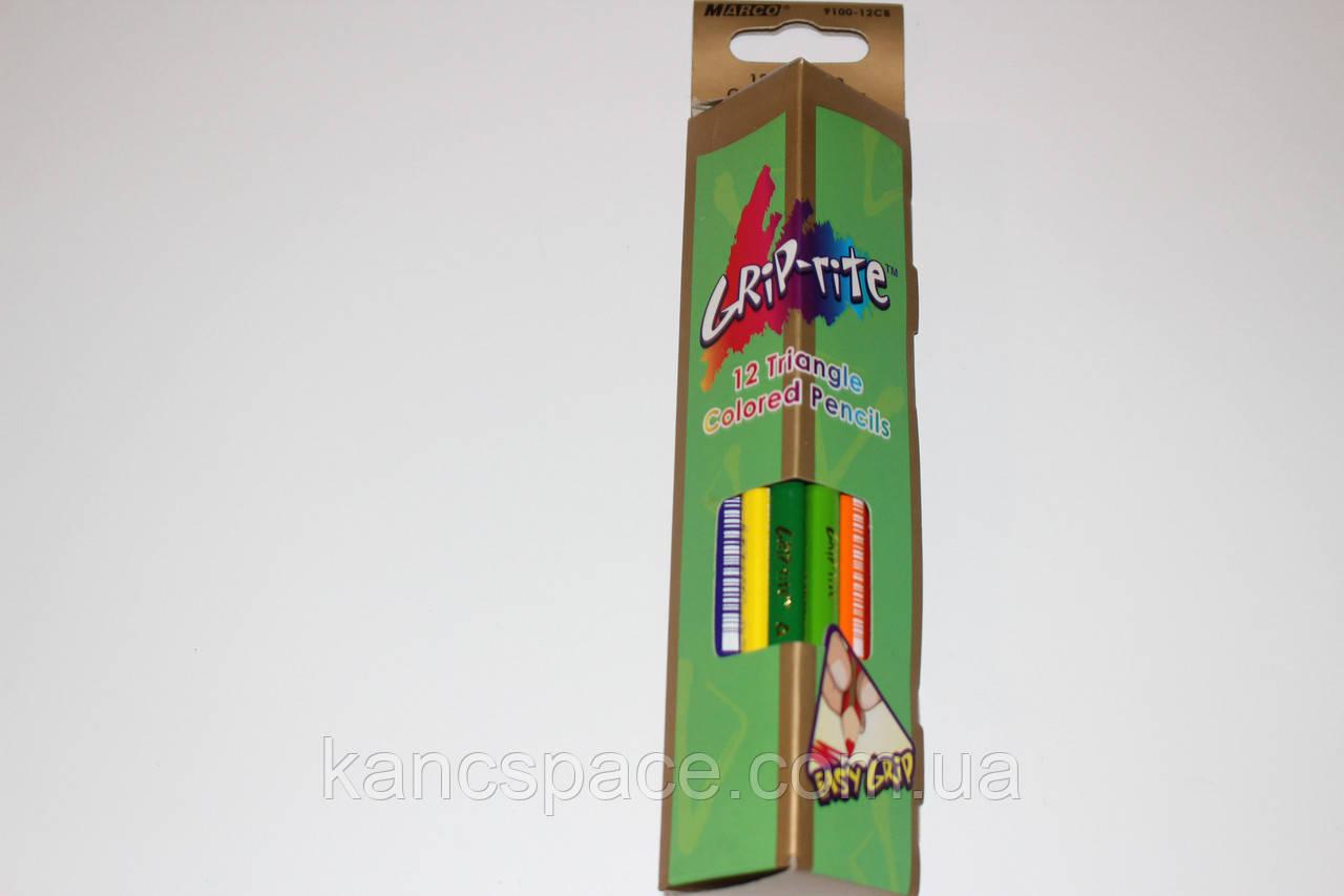 TM Marco Цветные карандаши 12 цветов треугольной формы
