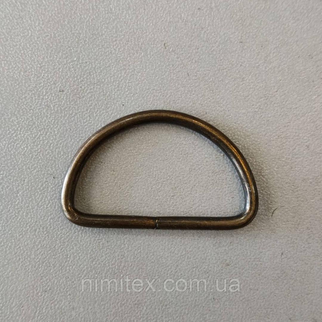 Полукольцо проволочное 31 мм антик