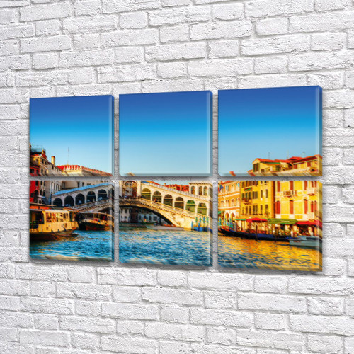 Купить модульную картину на Холсте син., 52x80 см, (25x25-6)