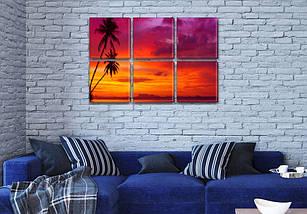 Картины на стену купить модульные, на Холсте син., 52x80 см, (25x25-6), фото 3
