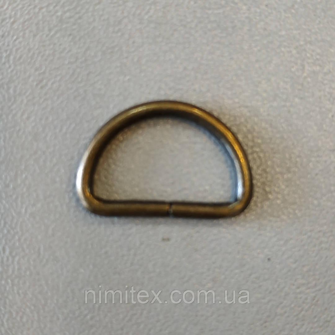 Полукольцо проволочное 15 мм антик