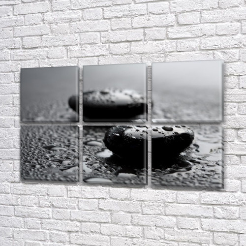 Интернет магазин картин купить модульную картину на Холсте син., 52x80 см, (25x25-6)