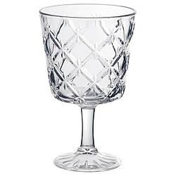 ✅ IKEA FLIMRA (002.865.02) Бокал для вина, бесцветное стекло, узор