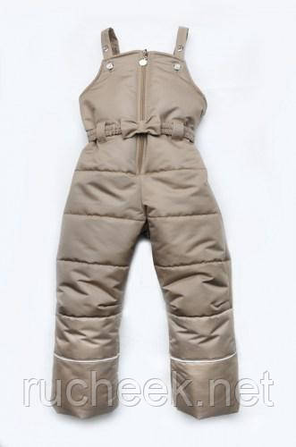 Модный карапуз ТМ Полукомбинезон зимний для девочки рост 86 - 128