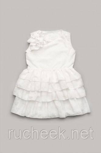 Модный карапуз ТМ Платье для девочки с оборками (айвори)