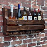 Деревянный винный держатель, фото 1