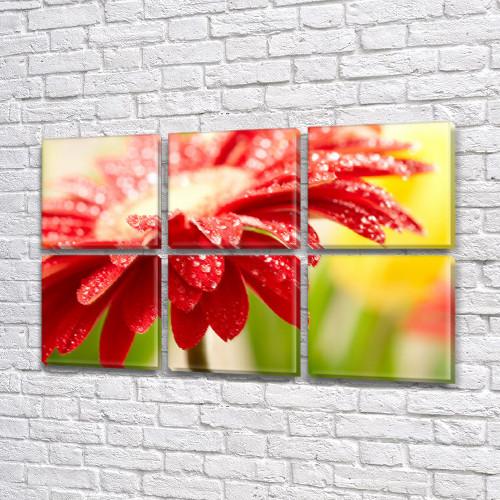 Модульные картины в спальню купить на Холсте син., 52x80 см, (25x25-6)