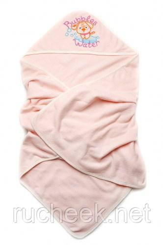 Модный карапуз ТМ Детское полотенце махровое для купания (персик)