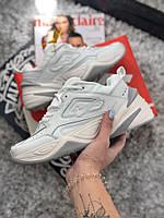 Женские кроссовки Nike MK2 Tekno White/Grey реплика AAA+