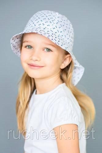Модный карапуз ТМ Панама-сафари детская (белая, принт якорь)