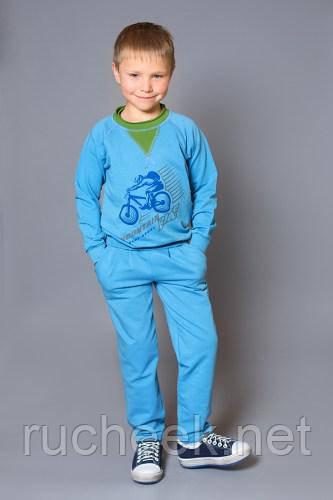 "Модный карапуз ТМ Реглан для мальчика ""Mountain bike"" (blue+greenery)"