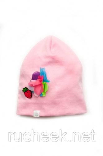 Модный карапуз ТМ Шапочка трикотажная для девочки (pink)