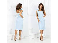 Женское платье-сарафан миди с бантиком 31443, фото 1