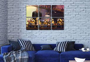 Модульные триптих картины в детскую, на Холсте син., 52x80 см, (25x25-6), фото 3