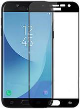 Защитное стекло Full Glue 5D Glass for Samsung J330 (J3 2017) Black no packing