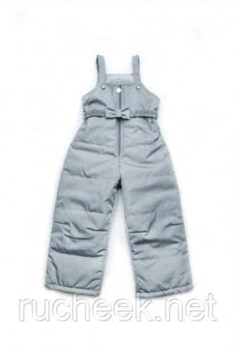 Модный карапуз ТМ Детский демисезонный полукомбинезон для девочки (серый)