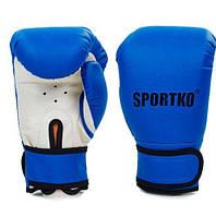 Перчатки боксерские Sportko Кожвинил PD-2-M (синий)