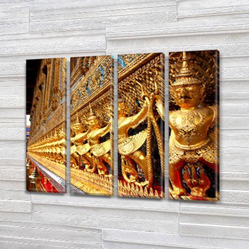 Триптих картины купить в трех размерах на Холсте син., 65x80 см, (65x18-4)
