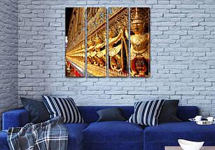 Триптих картина Гранд Палас  на Холсте син., 65x80 см, (65x18-4), фото 3