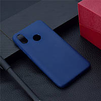 Чехол Xiaomi Mi A2 / Mi 6X силикон soft touch бампер темно-синий