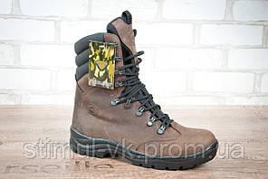Ботинки высокие тактические STIMUL Гопак зима/деми кожа крейзи шоколад