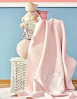Детский плед в кроватку Karaca Home Pink Garden розовое 100*120
