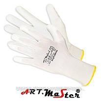 Защитные рукавицы Rnypu White изготовленные из полиэстера, покрытые полиуретаном. ARTMAS