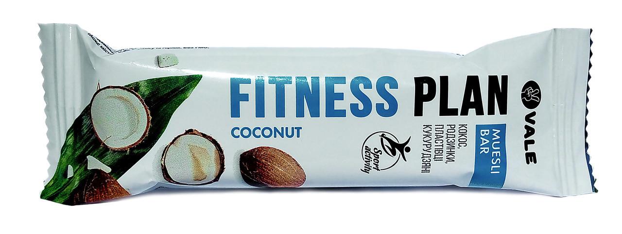Злаковый батончик Fitness Plan - Muesli Bar (25 грамм) coconut/кокос