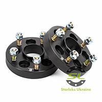 Автомобильное расширительное кольцо (Spacer) Starleks Н = 25 мм PCD5*100 - > 5*114.3 DIA57.1 -> 60.1 Футорка 12x1.5 Чёрные