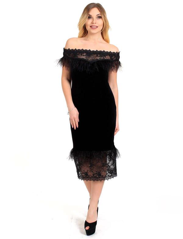 Платье женское чёрное   вечернее ENIGMA MKENP 0937