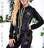 Стильный гламурный велюровый спортивный костюм женский Турция однотоный на молнии