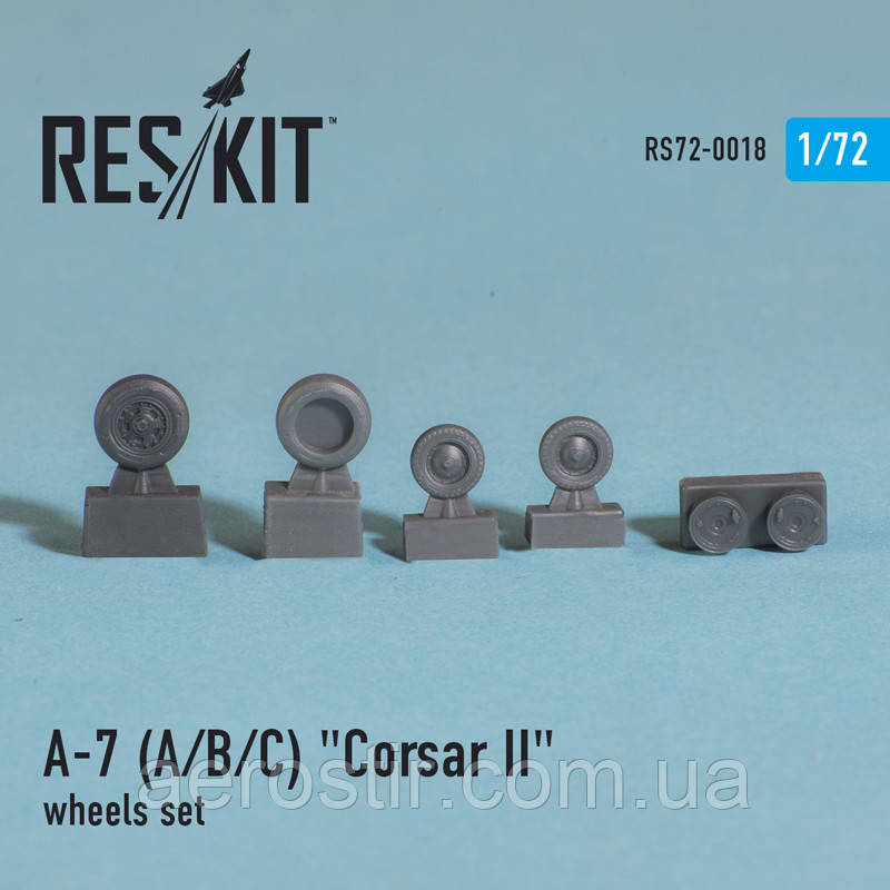 "LTV A-7 ""Corsair II"" (A/B/C/E) wheels set 1/72 RES/KIT 72-0018"