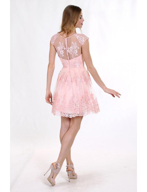 Плаття рожеве вечірнє, фото 2