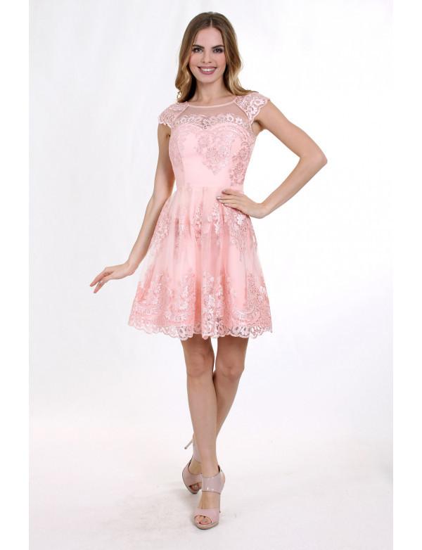 Платье женское  розовое вечернее ENIGMA MKENP 0787
