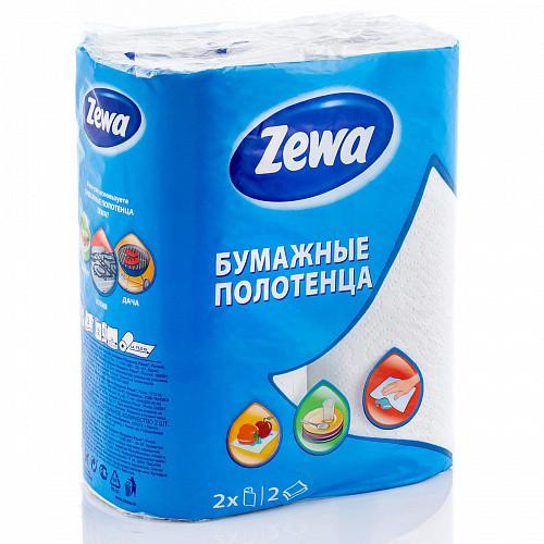 Бумажные полотенца белые 2-слоя ZEWA (2 рул/уп)