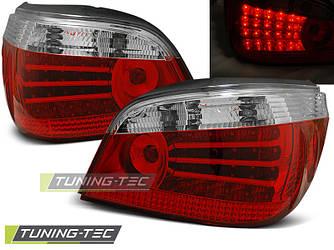 Стопы фонари тюнинг оптика BMW E60 (03-07) красно-белые