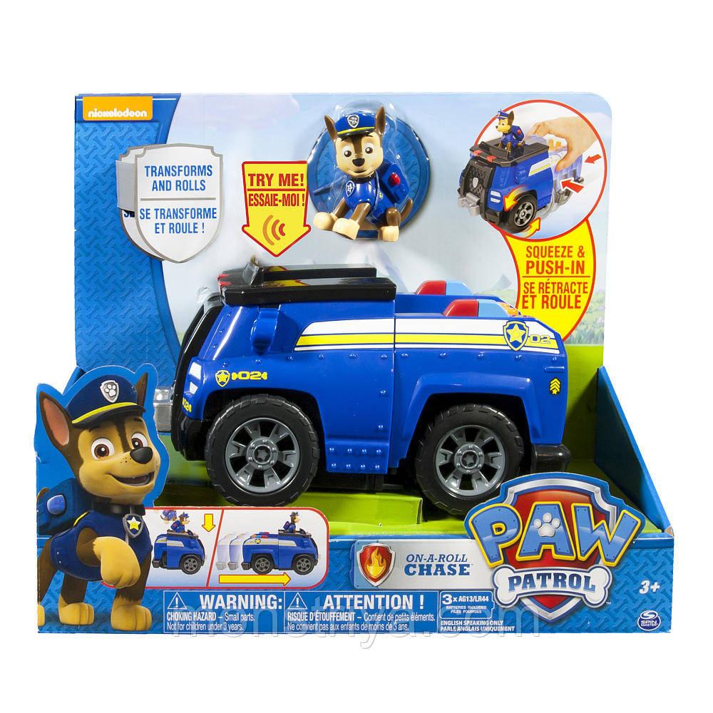 Щенячий патруль Большой автомобиль спасателей полицейская машинка со звуком и щенок Чейз PAW PATROL   , фото 1