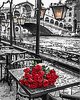 "Картина по номерам ""Розы под дождем"" GX 9754 40*50см"