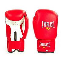 Перчатки боксерские тренировочные на липучке Для детей и взрослых EVERLAST Красные (MA-0033) 4 унции
