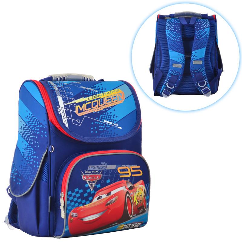 bba53656e377 Ранец (рюкзак) - каркасный школьный для мальчика - Машина Тачки Маквин, H-