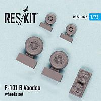 McDonnell F-101 (B) Voodoo wheels set 1/72  RES/KIT 72-0072
