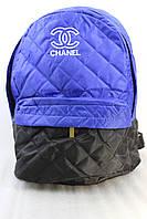 Рюкзак женский стеганный черно-синий