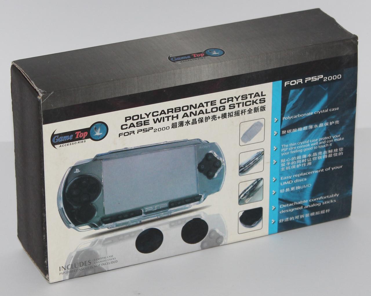 Чохол Polycarbonate Crystal Case with Analog Sticks for PSP 2000/Slim