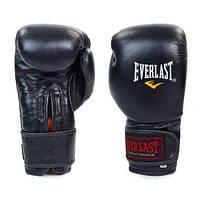 Перчатки боксерские кожаные EVERLAST King Star BO-4748-BK (реплика)