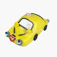 Фигурка из мастики  - Машинка жёлтая, фото 1