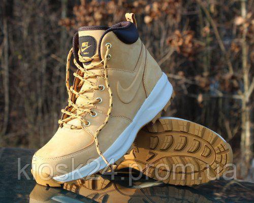 dd937d03629f Оригинальные кроссовки Nike Manoa Leather Boot Haystack (454350-700) -  Sneakersbox - Интернет
