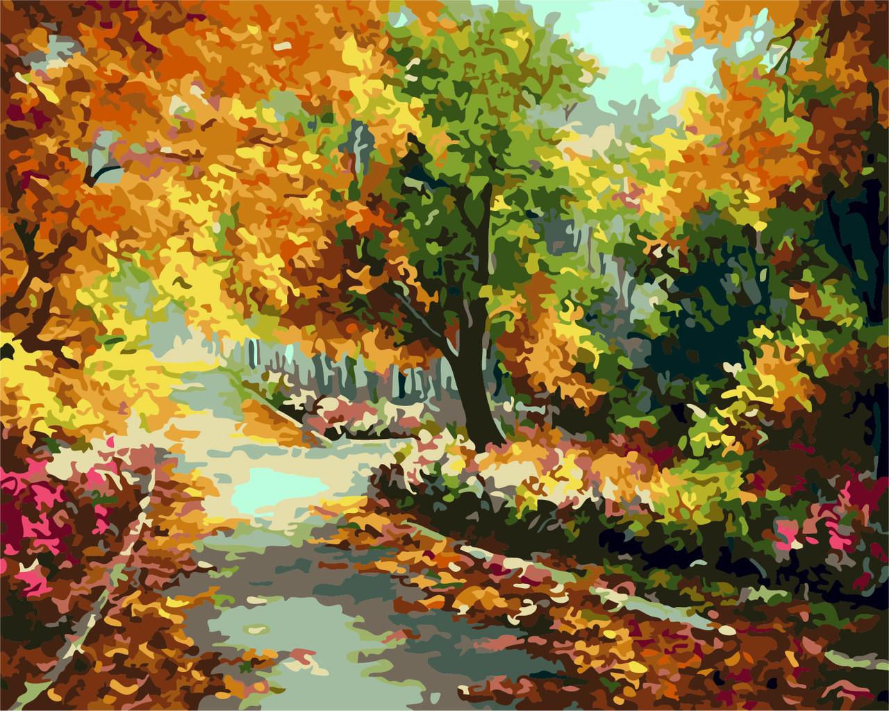 Картина по номерам Осенний парк, 40x50 см., Art Story