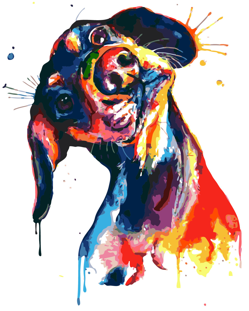 Картина по номерам Любопытная такса, 40x50 см., Art Story